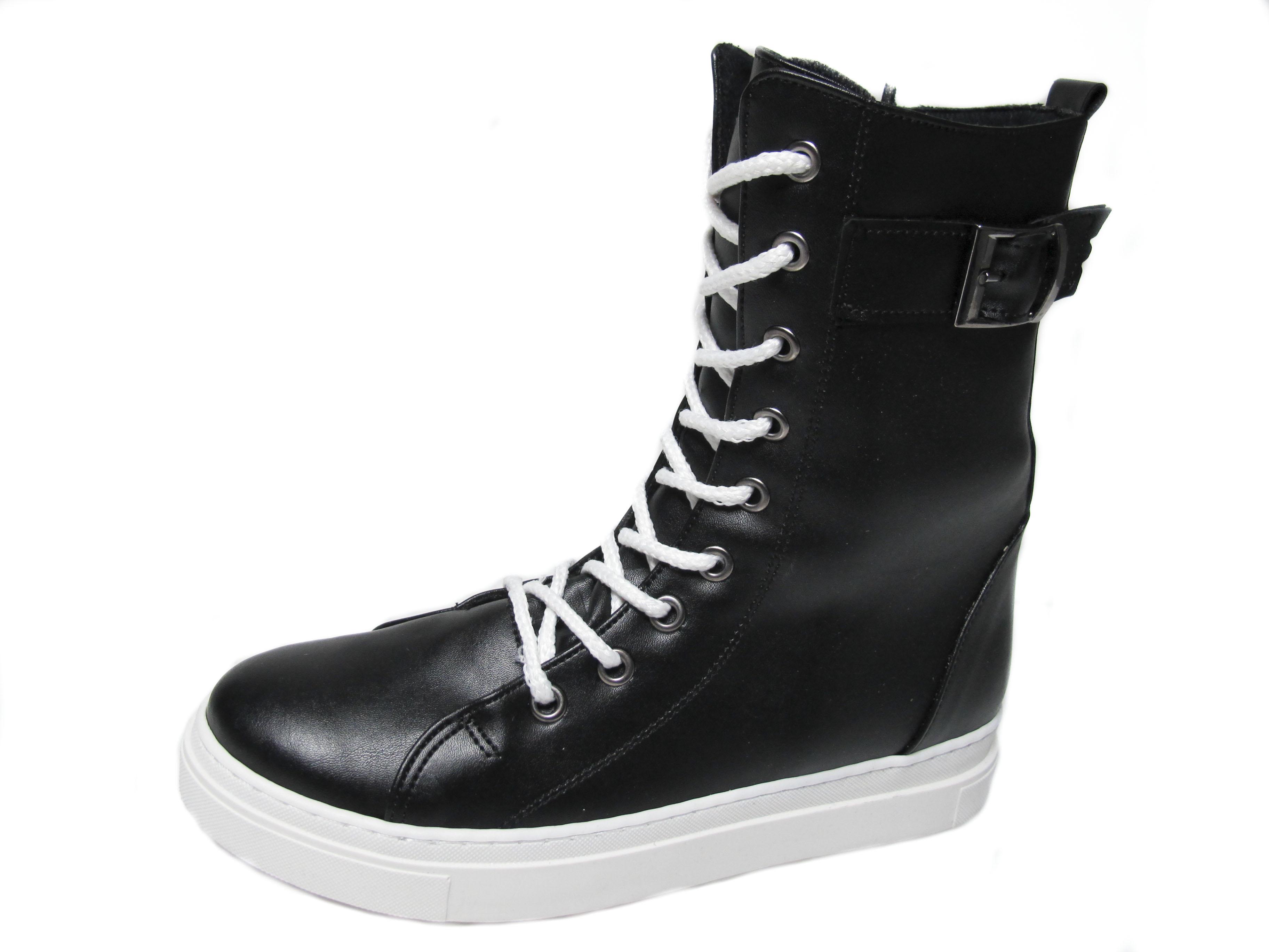 ce56164ba53 Дамски боти черни спортни от еко кожа 158-4784   Дамски ежедневни ...