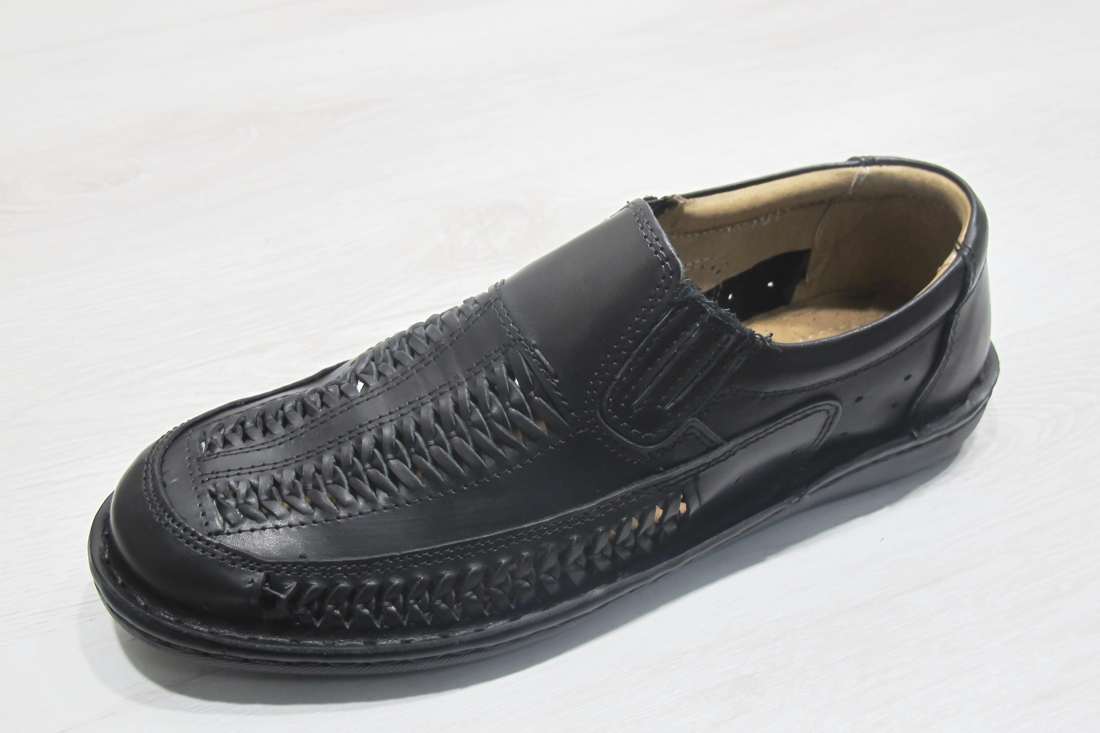 e7e0e4a01cf Мъжки обувки черни естествена кожа 166-3769 | Чехли и сандали мъжки ...