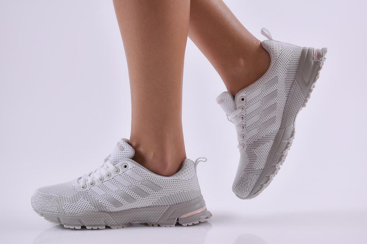 dbcbfd12a58 Дамски маратонки текстил бели 500-5107 | Дамски спортни обувки ...