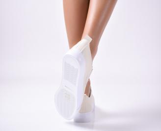 Дамски  обувки равни  еко кожа бежови 3