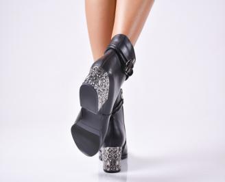 Дамски елегантни боти  от еко кожа черни 3