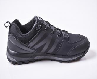 Мъжки  маратонки  еко кожа черни 3