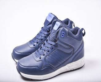 Мъжки спортни обувки  еко кожа сини