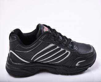Юношески  маратонки   еко кожа  черни 3