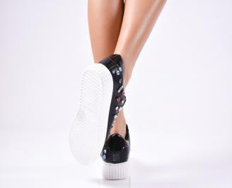 Дамски спортни  обувки текстил черни 3