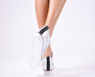 Дамски спортни  обувки еко кожа сребристи 3