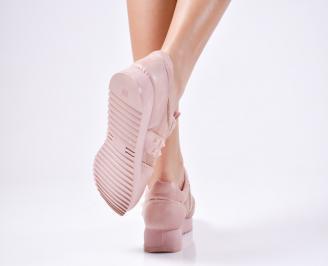 Дамски спортни  обувки еко кожа  розови 3