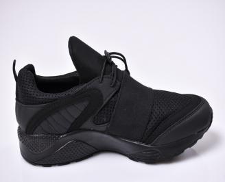 Мъжки маратонки текстил черни 3