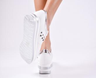 Дамски спортни  обувки еко кожа бели 3