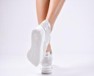 Дамски спортни  обувки еко кожа сиви