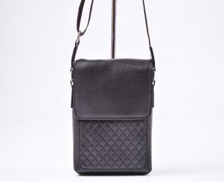 Мъжка чанта кафява естествена кожа