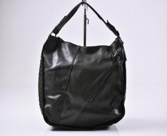 Дамска чанта еко кожа зелена
