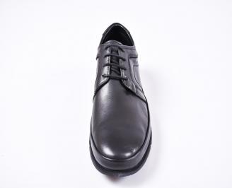 Мъжки ежедневни  обувки естествена кожа черни