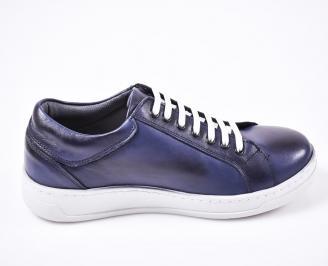 Мъжки спортни  обувки естествена кожа сини