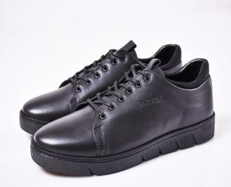Мъжки спортно  обувки естествена кожа черни