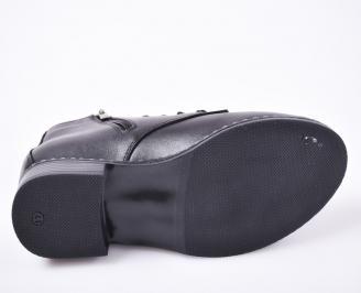 Дамски боти -Гигант от естествена кожа черни