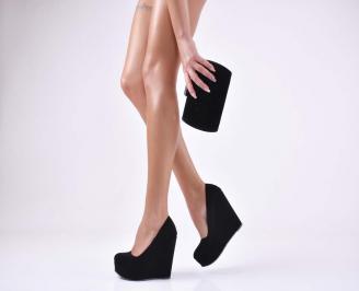 Комплект бална чанта и обувки набук черни