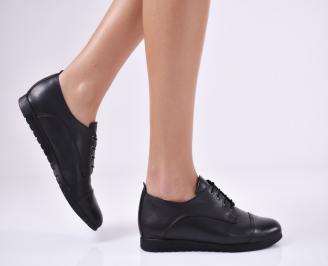 Дамски  обувки естествена кожа черни