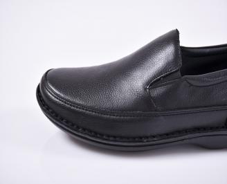 Мъжки ежедневни обувки -Гигант естествена кожа черни