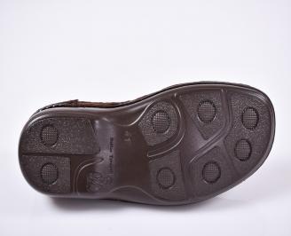 Мъжки ежедневни обувки естествена кожа кафяви