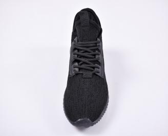 Мъжки маратонки текстил/мрежа черни