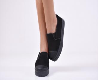 Дамски  обувки  еко велур черни