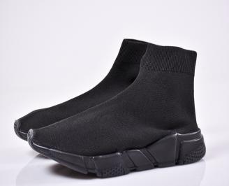 Мъжки маратонки текстил черни