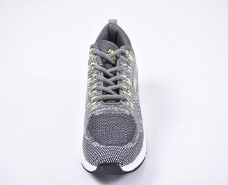 Мъжки маратонки текстил сиви