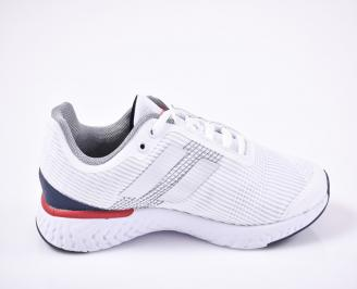 Мъжки маратонки текстил бели