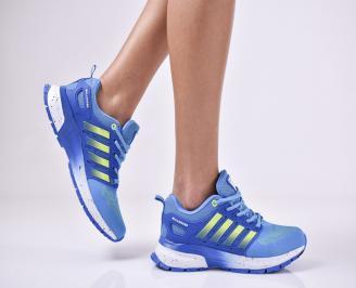Дамски маратонки  текстил сини