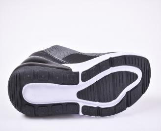 Мъжки маратонки текстил черно/сиви