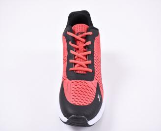 Мъжки маратонки текстил черно/червено
