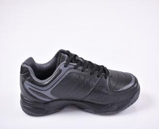 Мъжки маратонки еко кожа черни