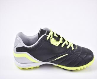 Футболни обувки  от еко кожа черни 3