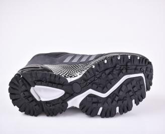 Мъжки маратонки -Гигант еко кожа черни