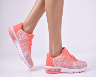 Дамски спортни  обувки текстил  розови