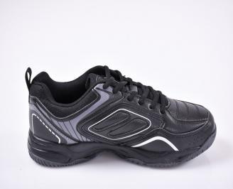 Юношески  маратонки   еко кожа черни