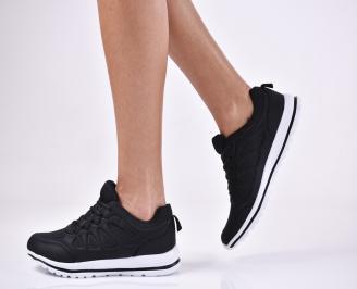 Дамски спортни  обувки текстил черни
