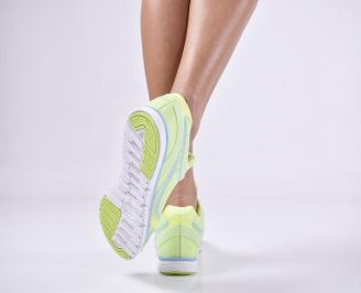 Дамски спортни  обувки текстил зелени