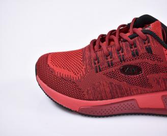 Мъжки маратонки текстил червени