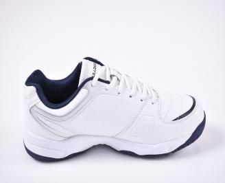 Мъжки маратонки еко кожа бяла