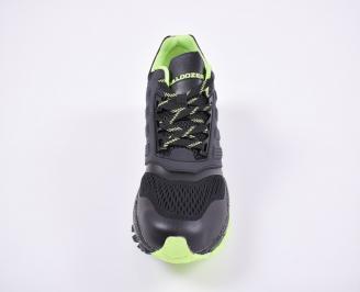 Юношески  маратонки   еко кожа/ текстил черни
