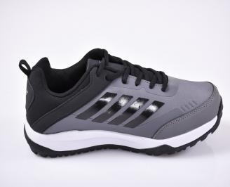 Мъжки маратонки еко кожа сиви