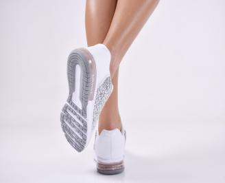 Дамски спортни  обувки текстил бели