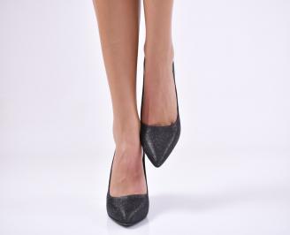 Дамски  елегантни обувки текстил черни