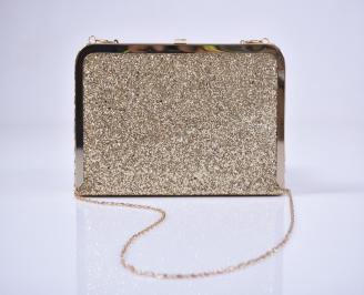 Абитуриентска чанта брокат златиста
