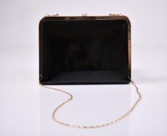 Абитуриентска чанта еко лак черна