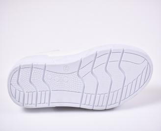 Мъжки спортни обувки еko кожа бели
