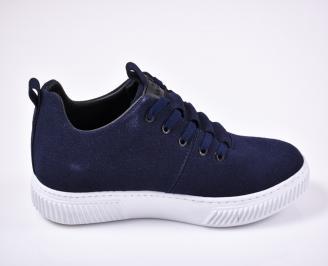 Мъжки спортни обувки естествен велур сини 3