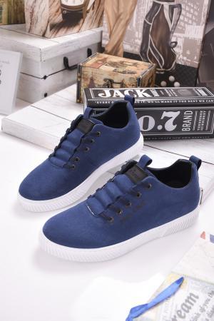 Мъжки спортни обувки естествен велур сини